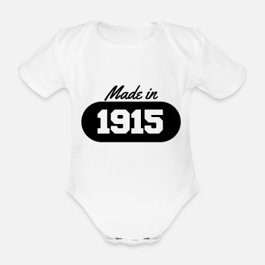 1915 Made in 1915 - Organic Short-Sleeved Baby Bodysuit