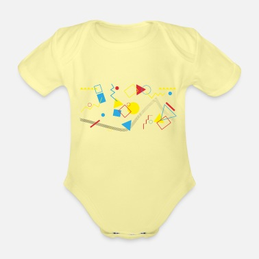 Parallel Geometric shapes - Organic Short-Sleeved Baby Bodysuit
