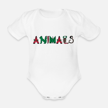 Animal Animals - Animals - Organic Short-Sleeved Baby Bodysuit