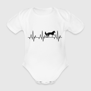 Heartbeat ECG harness racing horse racing horse - Organic Short-sleeved Baby Bodysuit