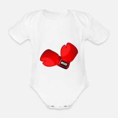 Boxing Gloves Red boxing gloves boxing gloves - Organic Short-Sleeved Baby Bodysuit