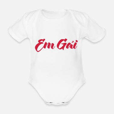 Ancestry Vietnamese (Baby) Sister - Em Gái ~ Tiếng Việt - Organic Short-Sleeved Baby Bodysuit