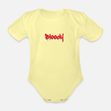 Gangster Bloody - gift, cool design - Organic Short-Sleeved Baby Bodysuit