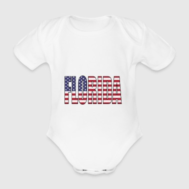 Florida USA - Organic Short-sleeved Baby Bodysuit