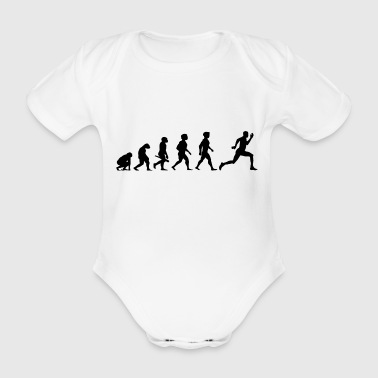 Evolution Sprinter Jogging Running Workout - Organic Short-sleeved Baby Bodysuit