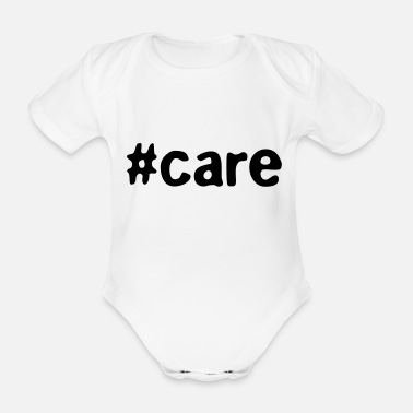 Care #care - Organic Short-Sleeved Baby Bodysuit