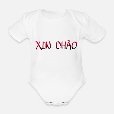 Asian Vietnamese for Hello - Organic Short-Sleeved Baby Bodysuit