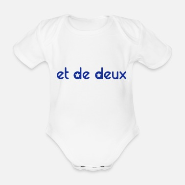 Personalise And Of Two (stars) - Personalisable - Organic Short-Sleeved Baby Bodysuit