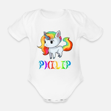 Filippa Unicorn Philip - Body neonato a manica corta
