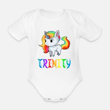 Trinity Unicorn Trinity - Organic Short-sleeved Baby Bodysuit