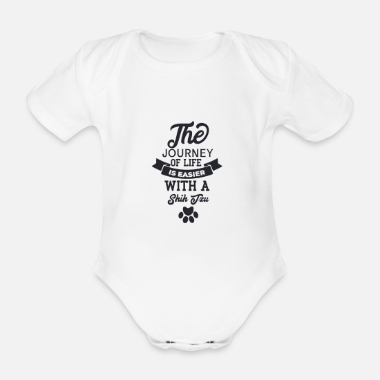 Journey Baby Clothes - The journey of life is - Organic Short-Sleeved Baby Bodysuit white