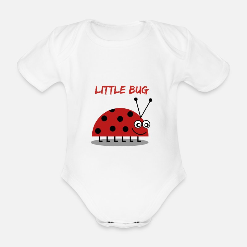 Baby Baby Clothing - Little bug - Short-Sleeved Baby Bodysuit white