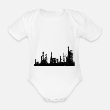 Oil Refinery Oil refinery industry - Organic Short-Sleeved Baby Bodysuit