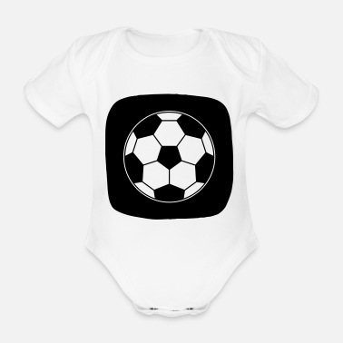 Ball Sport Icon Football Ball Sport Ball Sports - Organic Short-Sleeved Baby Bodysuit