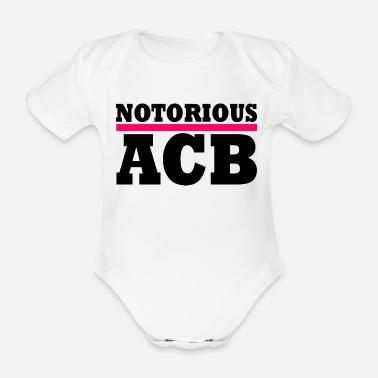 Flag notorious acb - Organic Short-Sleeved Baby Bodysuit