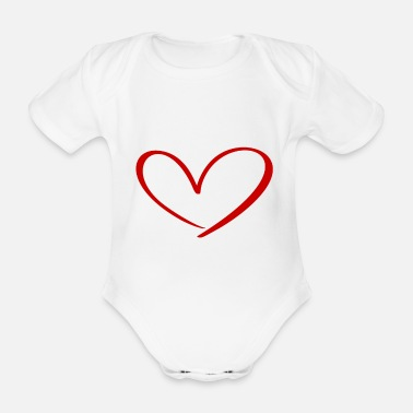 Love With Heart Hearts Against Hate 315 - Organic Short-Sleeved Baby Bodysuit
