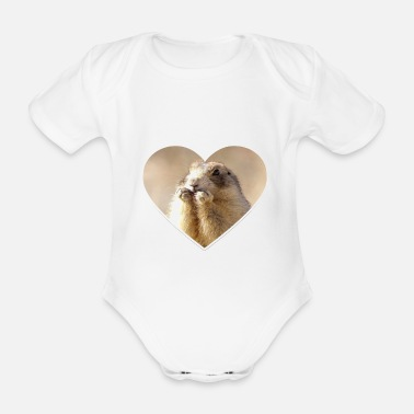 Rodent rodent rodents heart cute - Organic Short-Sleeved Baby Bodysuit