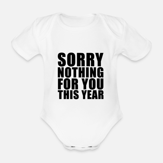 Make A Present Baby Clothes - No presents - Organic Short-Sleeved Baby Bodysuit white