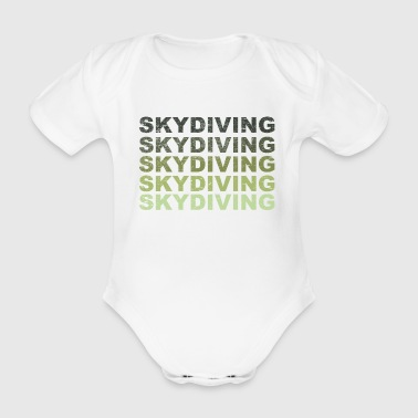 Skydiving, parachute, sky, freedom, present - Organic Short-sleeved Baby Bodysuit