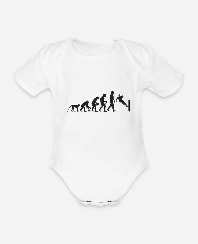 Competition Baby Bodysuits - Evolution Parcour - Organic Short-Sleeved Baby Bodysuit white