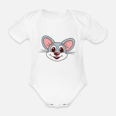 Mouse Mouse mouse - Organic Short-sleeved Baby Bodysuit