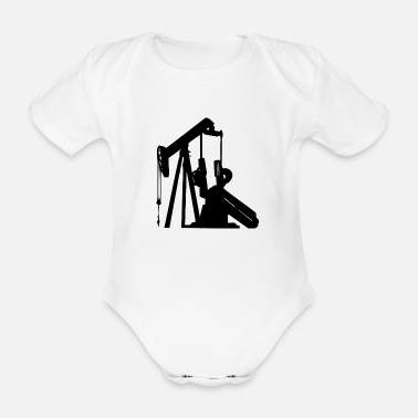 Oil Drilling Oil drill for the fuel - Organic Short-Sleeved Baby Bodysuit