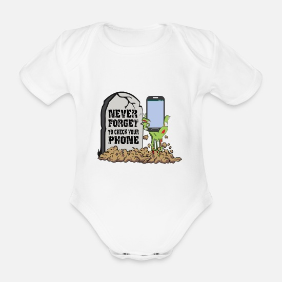 Gift Idea Baby Clothes - SMOMBIE, Funny, Gift, Gift idea - Organic Short-Sleeved Baby Bodysuit white