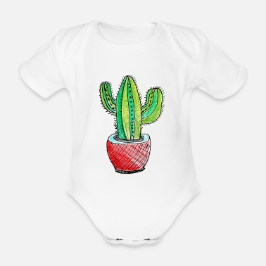 Tall Tall Cactus - Organic Short-sleeved Baby Bodysuit