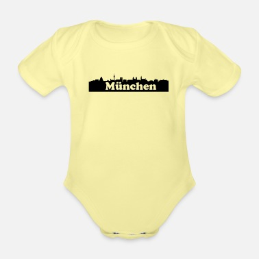 Nose Munich skyline - Organic Short-Sleeved Baby Bodysuit