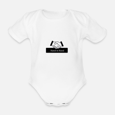 Hands hand in hand - Organic Short-Sleeved Baby Bodysuit