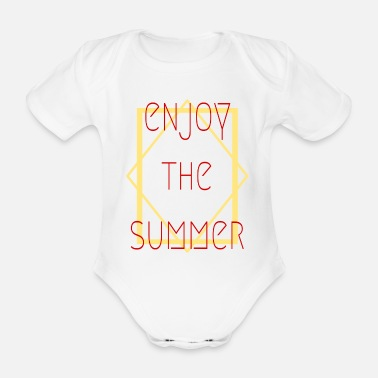 Rahmen enjoy the summer - Sommertreds - Baby Bio Kurzarmbody