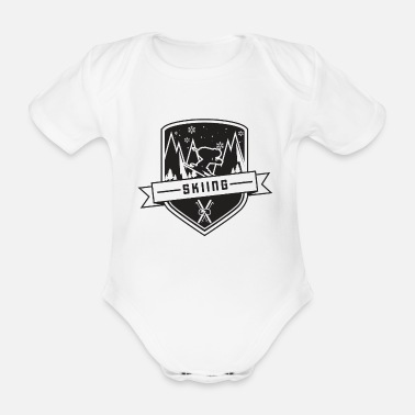 Ski Resort Skiing driver gift winter sport vacation mountain - Organic Short-sleeved Baby Bodysuit