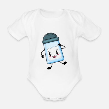Salt salt - Organic Short-Sleeved Baby Bodysuit