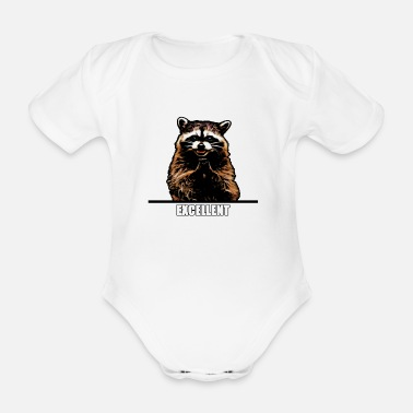 Evil Raccoon - Organic Short-sleeved Baby Bodysuit