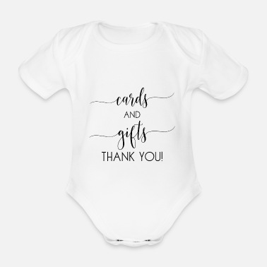 Cards cards and gifts card - Organic Short-Sleeved Baby Bodysuit