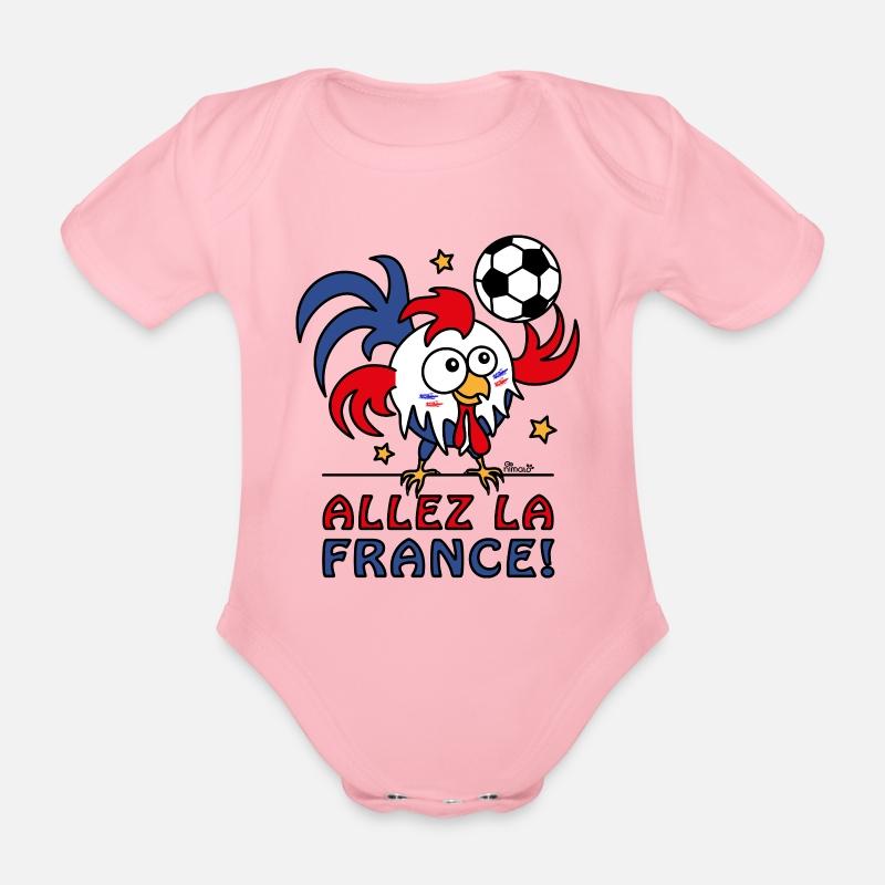 garçon fille Body Bébé Football Allez la France Supporter français foot