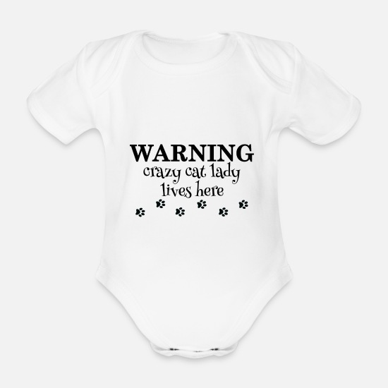 Gift  Babykleding - Crazy Cat Lady Cat Cats Cat Mama Pet Ti - Rompertje met korte mouwen wit
