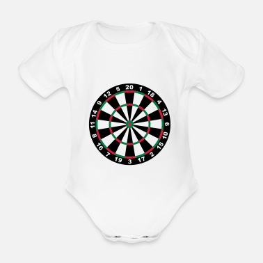 Darts Target for darts - Organic Short-sleeved Baby Bodysuit