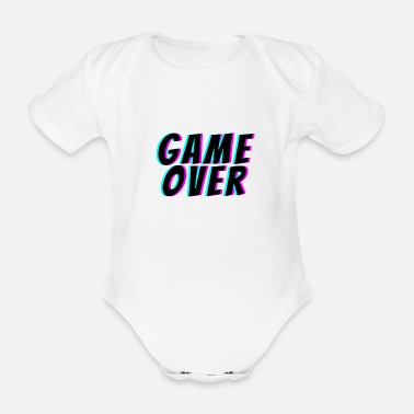 Game Over Game Over. t-shirt game over - Body Bébé bio manches courtes