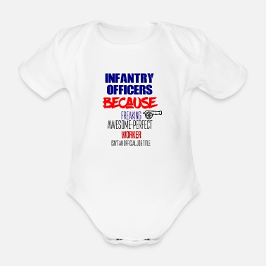 Infantry Infantry officers - Organic Short-sleeved Baby Bodysuit