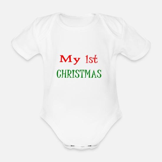 buy online 7121c 2bb6b MEINE ERSTEN WEIHNACHTEN Baby Bio Kurzarmbody | Spreadshirt