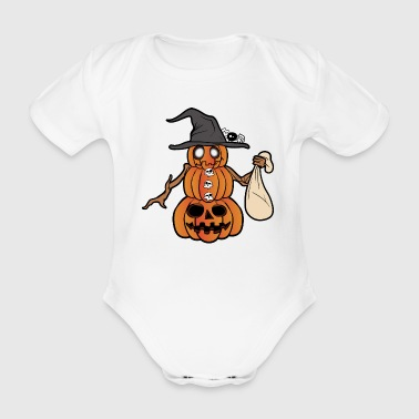 Kürbis Halloween Monster Zombie Horror - Baby Bio-Kurzarm-Body