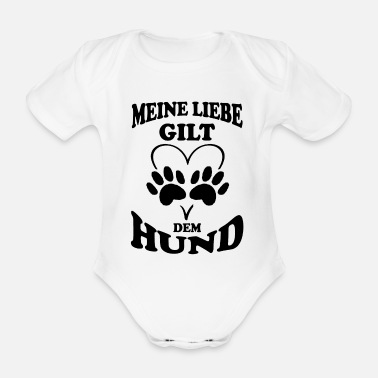 Dogowner Love is for the dog - Organic Short-Sleeved Baby Bodysuit