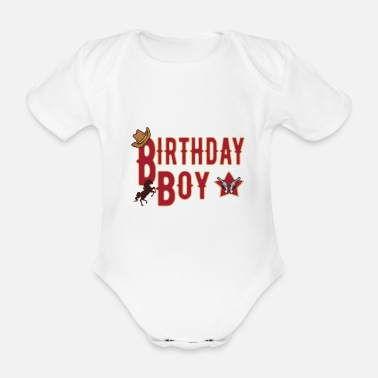 Birthday Boy Birthday Gift for Boys Birthday Boy - Organic Short-Sleeved Baby Bodysuit
