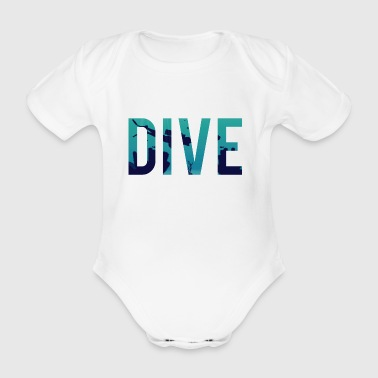 Diving / Diving: Dive - Organic Short-sleeved Baby Bodysuit