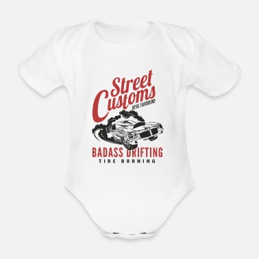 Muscle Car American Power Muscle Car - Organic Short-Sleeved Baby Bodysuit