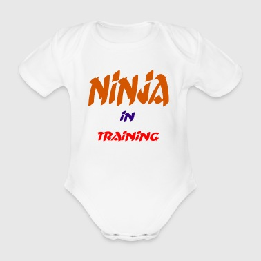 ninja - Organic Short-sleeved Baby Bodysuit