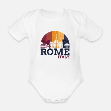 Romanesque Rome Italy - Design - Organic Short-Sleeved Baby Bodysuit