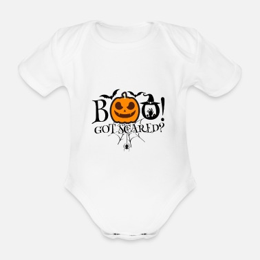 Scared to death - Organic Short-sleeved Baby Bodysuit