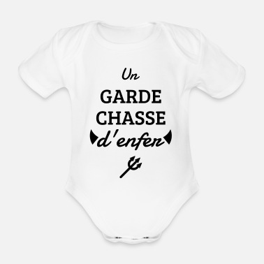 Game Keeper Hunting Wildhüter Garde Chasse - Organic Short-Sleeved Baby Bodysuit